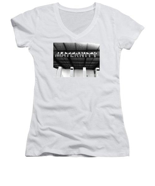 Maternity  Ward Women's V-Neck T-Shirt (Junior Cut) by WaLdEmAr BoRrErO