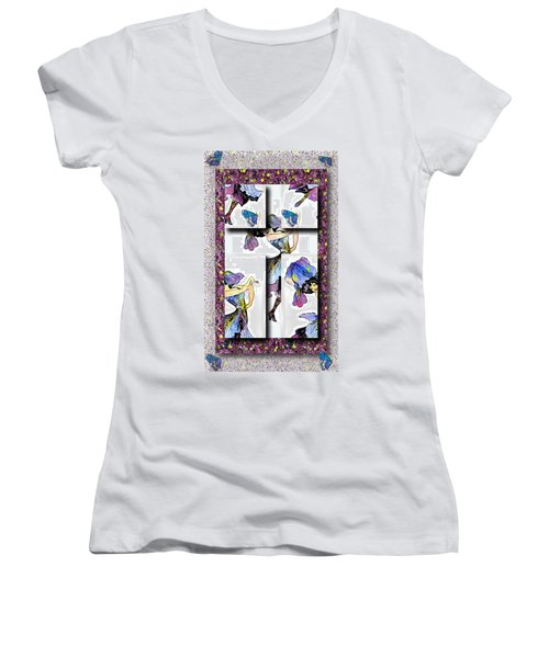 May Day Dancer Women's V-Neck (Athletic Fit)