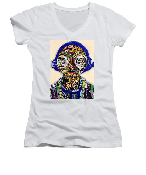 Maz Kanata Star Wars Awakens Afrofuturist Colection Women's V-Neck T-Shirt
