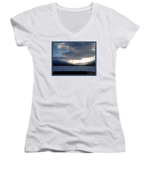 Women's V-Neck T-Shirt (Junior Cut) featuring the photograph Mckinley by James Lanigan Thompson MFA