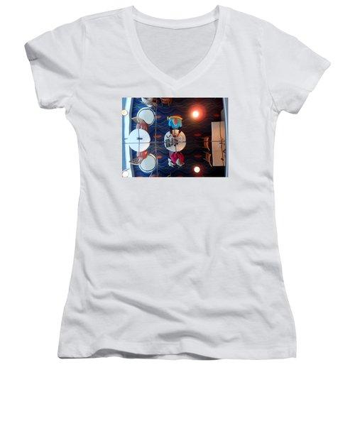 Meeting Under A Mirror Women's V-Neck T-Shirt