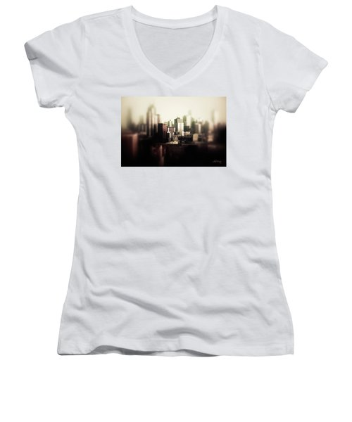 Melbourne Towers Women's V-Neck T-Shirt