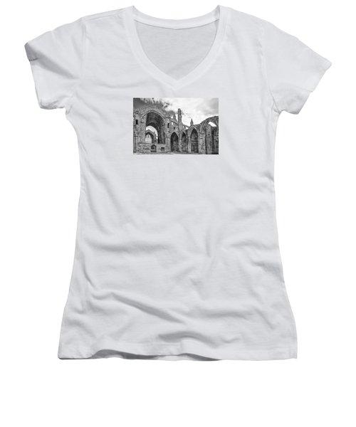 Melrose Abbey Women's V-Neck T-Shirt