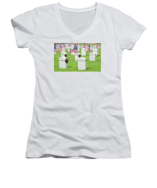 Memorial Day Two Women's V-Neck (Athletic Fit)