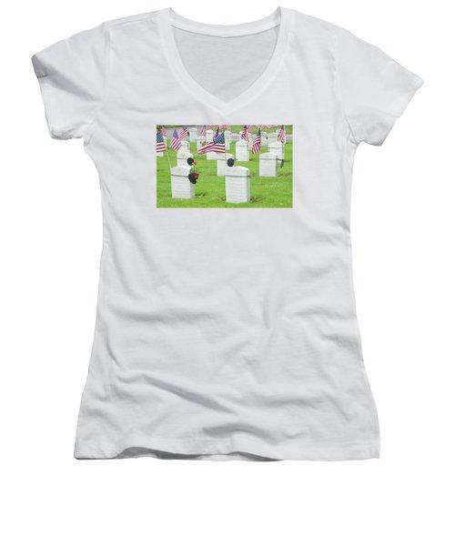 Memorial Day Two Women's V-Neck T-Shirt