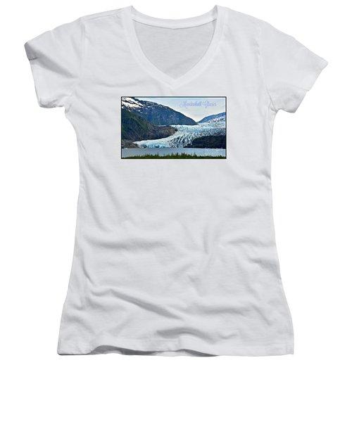 Mendenhall Glacier Women's V-Neck T-Shirt