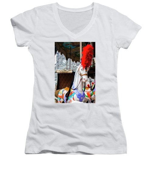 Merry-go-round Women's V-Neck T-Shirt