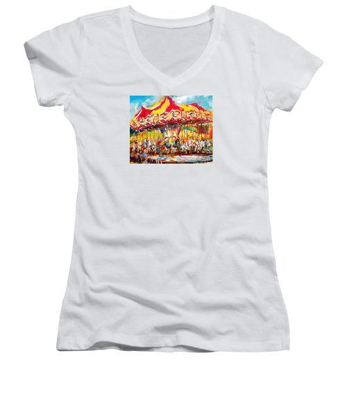 Merry-go-round Women's V-Neck