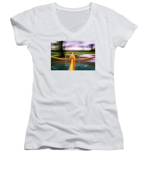 Merry Go Round Women's V-Neck