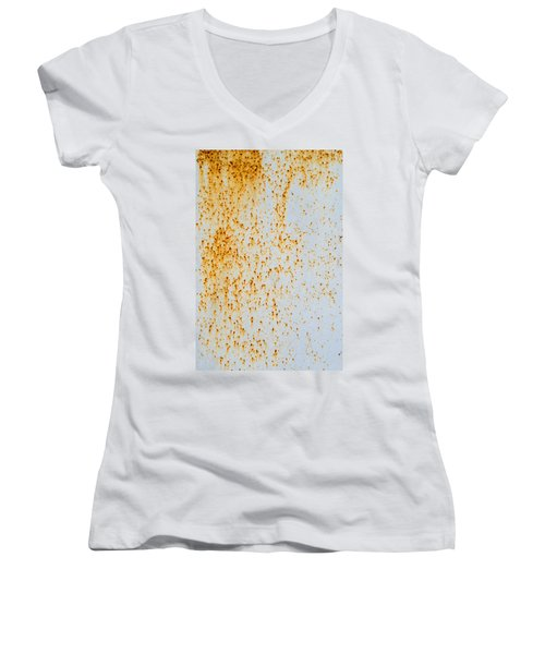 Women's V-Neck T-Shirt (Junior Cut) featuring the photograph Metal Rust by John Williams