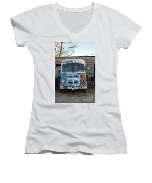 Metro International Harvester Women's V-Neck T-Shirt (Junior Cut) by Renie Rutten