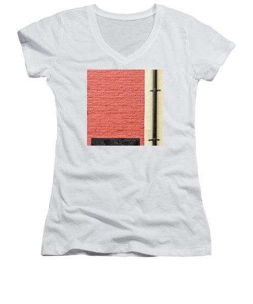 Women's V-Neck featuring the photograph Mews Spout by Eric Lake