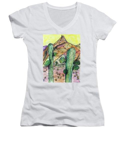 Mexican Desert Women's V-Neck T-Shirt
