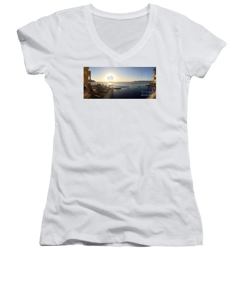 Women's V-Neck T-Shirt (Junior Cut) featuring the photograph Mexico Memories 6 by Victor K