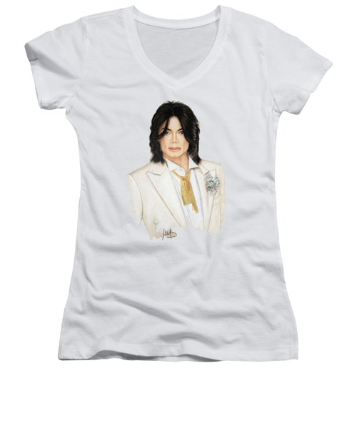 Man In The Mirror  Women's V-Neck
