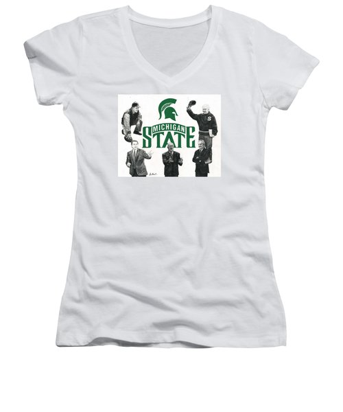 Michigan State Coaching Legends Women's V-Neck (Athletic Fit)