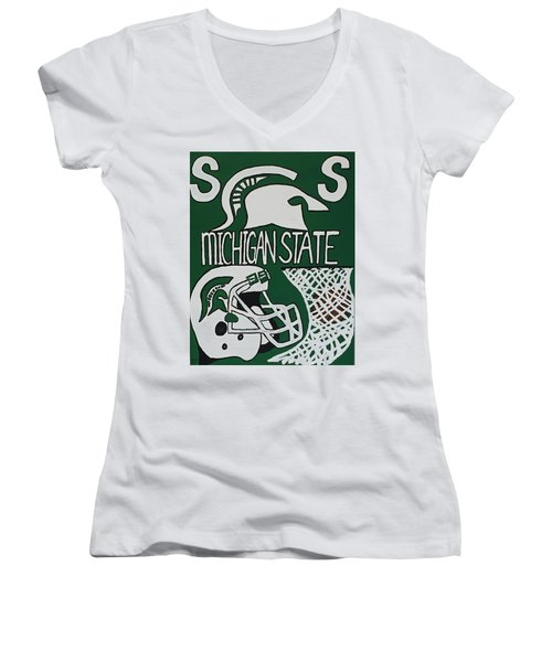 Michigan State Spartans Women's V-Neck T-Shirt