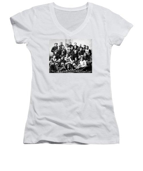 Michigan Wolverines Football Heritage  1895 Women's V-Neck T-Shirt