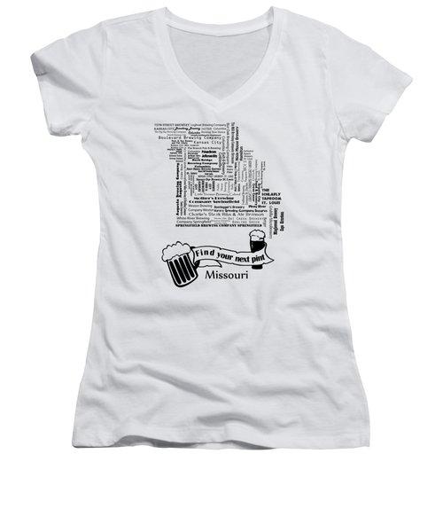 Micro Brew Missouri Women's V-Neck T-Shirt