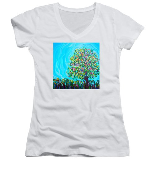 Mid-summer Tree Breath Women's V-Neck