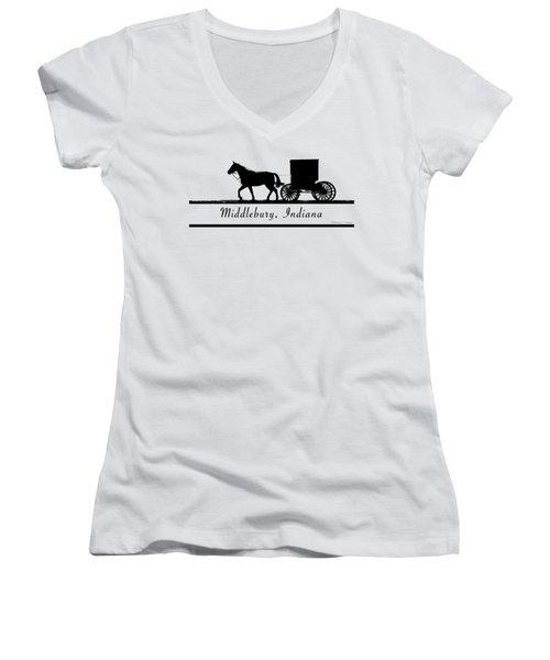 Middlebury Indiana T-shirt Design Women's V-Neck (Athletic Fit)