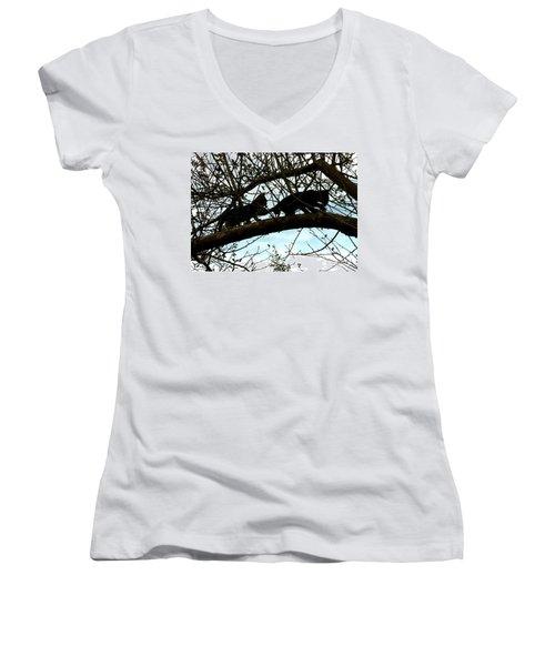 Midi 3 Women's V-Neck T-Shirt (Junior Cut) by Wilhelm Hufnagl