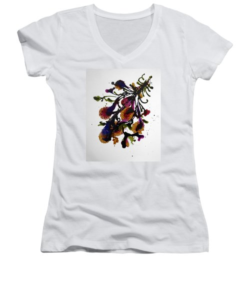 Midnight Magic-2 Women's V-Neck T-Shirt (Junior Cut) by Alika Kumar