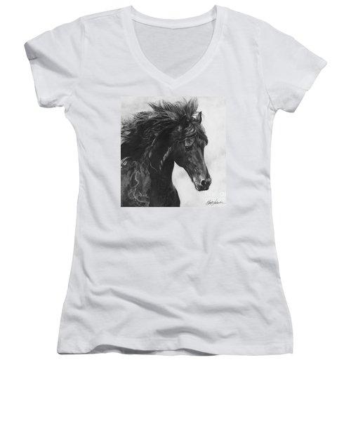 Midnight Thunder Women's V-Neck T-Shirt