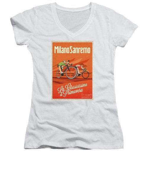 Milan San Remo Women's V-Neck (Athletic Fit)