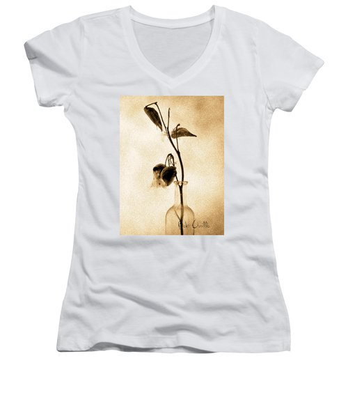 Milk Weed In A Bottle Women's V-Neck (Athletic Fit)