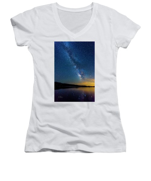 Women's V-Neck featuring the photograph Milky Way 6 by Jim Thompson