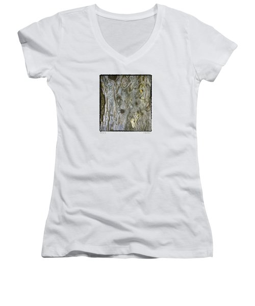 Women's V-Neck T-Shirt (Junior Cut) featuring the photograph Millbrook Tree by R Thomas Berner