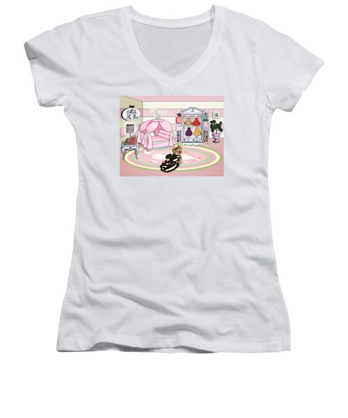 Millie Larue's French Room Women's V-Neck T-Shirt