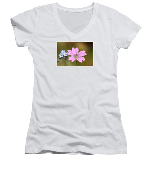 Women's V-Neck T-Shirt (Junior Cut) featuring the photograph Minature World by Richard Patmore