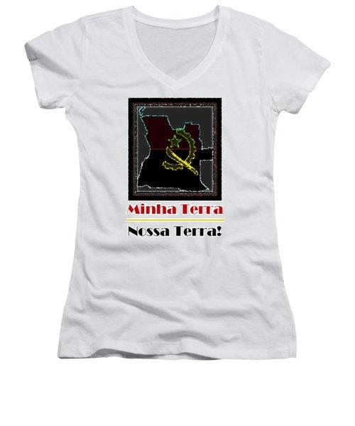 Minha Terra Women's V-Neck T-Shirt (Junior Cut)
