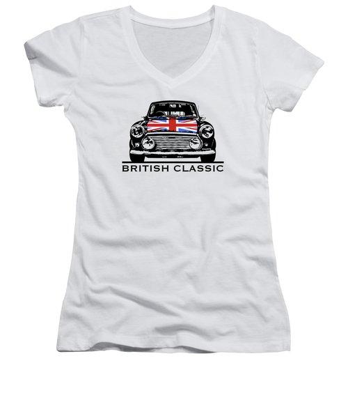 Mini British Classic Women's V-Neck T-Shirt