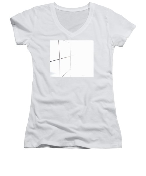 Minimal Squares Women's V-Neck (Athletic Fit)