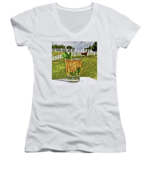 Mint Julep Kentucky Derby Women's V-Neck