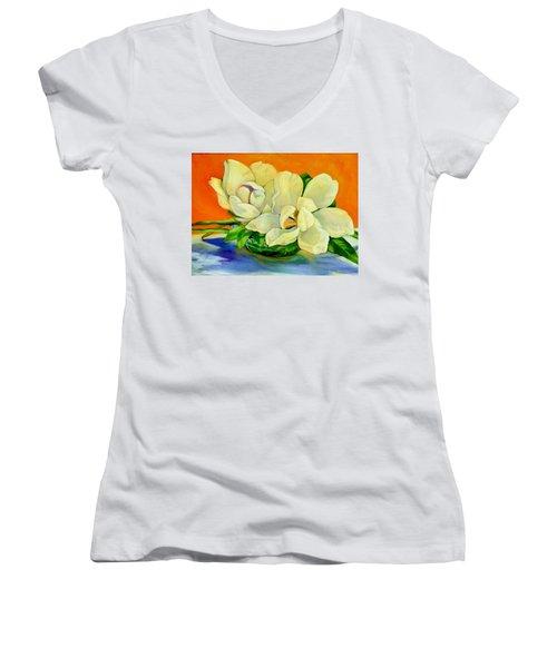 Mississippi Magnolias Women's V-Neck