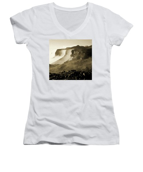 Mist In Lesotho Women's V-Neck (Athletic Fit)