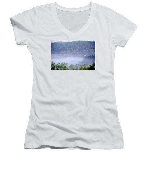 Mist In The Valley Women's V-Neck T-Shirt