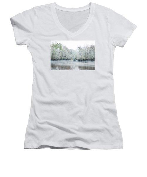 Mist On The River Women's V-Neck