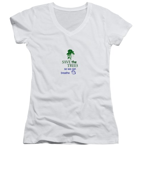 Women's V-Neck featuring the painting Mists Of Time  by Valerie Anne Kelly