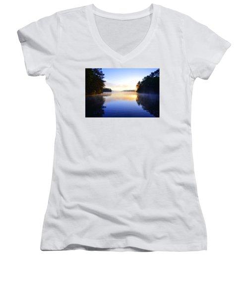 Misty Morining Women's V-Neck T-Shirt