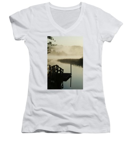 Misty Oregon Morning Women's V-Neck
