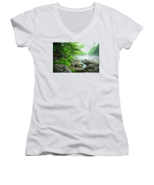 Misty Waters Women's V-Neck (Athletic Fit)