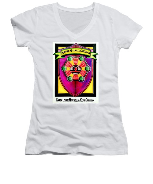 Mitchell-creehan Ancestral Healing Family Crest Women's V-Neck T-Shirt