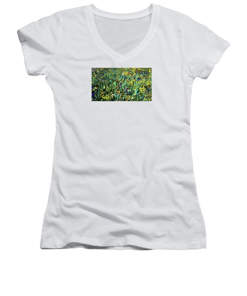 Mixed Wildflowers In Texas Women's V-Neck