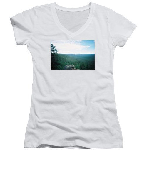 Mogollon Rim - Arizona Women's V-Neck (Athletic Fit)