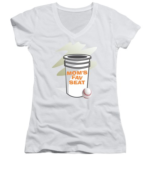Mom's Favorite Seat Women's V-Neck (Athletic Fit)